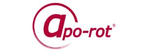 Farbiges Logo der apo-rot Apotheke