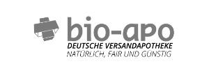 Ausgegrautes Logo der bio-apo Apotheke